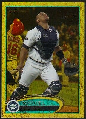 2012 Topps Series 1 Gold #118 Miguel Olivo Mariners Golden Moments Foil Parallel
