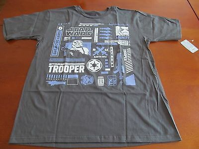 Disney Store Stormtroopers Icon Tee for Men - New Star Wars Tshirt Size Medium