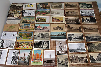 Antique WWII GI Travel Postcard Collection European Egypt Old Vintage Postcards