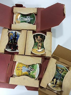 Wizard Of Oz Knowles Plate Set Lot Complete With COA Dorothy Wicked Witch