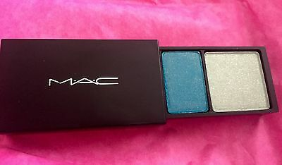 Mac Eye Shadow Suite X 2 Fard A Paupieres and Shallow V Deep NWOB teal green