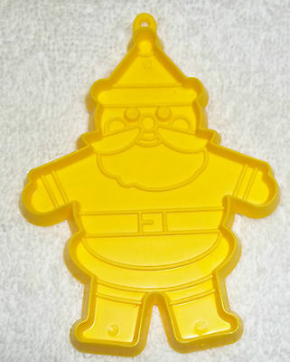 Vintage Yellow Christmas Cookie Cutter Seasons Greeting From Dial Soap Santa