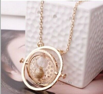 Harry Potter Time Turner Necklace Gold  Hermione Granger Rotating Spins,new 1pc