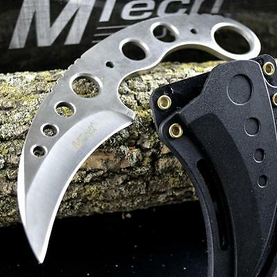 """7"""" TACTICAL COMBAT KARAMBIT NECK KNIFE Survival Hunting BOWIE Fixed Blade SHEATH"""