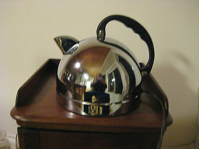 Vintage Mid Century Chrome Ball Kettle General Electric Model K 43 C Works Well