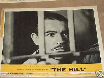 """THE HILL LOBBY CARD SET ORIGINAL  SET OF 8 CARDS 11"""" by 14"""" SEAN CONNERY 1965"""