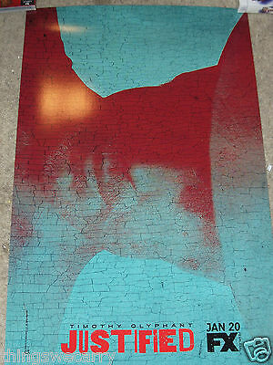 JUSTIFIED POSTER SEASON 6 ORIGINAL FX TV SHOW POSTER COOL GRAPHIC NM/MT