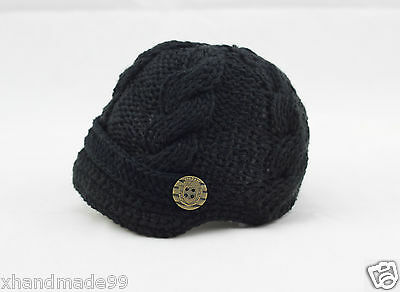 Handmade Knitting crochet Beanie Hat Newsboy Toddler boy baby 3-6 month
