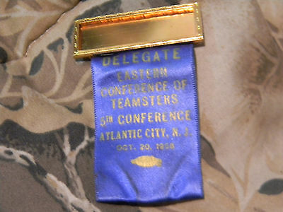 eastern conference of teamsters 5th conference atlantic city nj oct 20 1958 pin