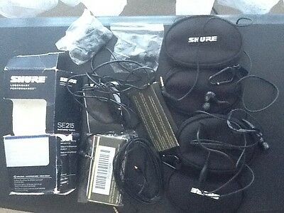 Shure SE215-K Black — Sound Isolating Earphones With iPhone Cable And Extras