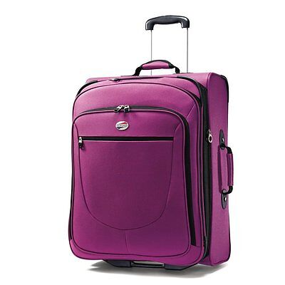 American Tourister Upright Suitcase Luggage w/ In Line Skate Wheels Purple 29""