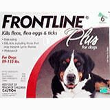 TWO SIX PACKS of Merial Frontline Plus For Dogs 89 - 132 lb