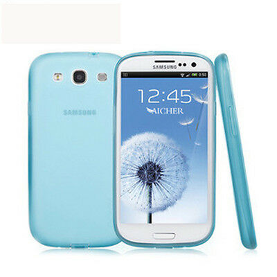 Blue Ultra Thin Matte Hard Back Case Cover For SAMSUNG GALAXY S3 SIII i9300