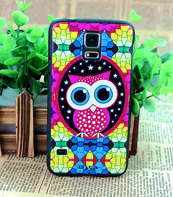 Colorful Owl Hard Plastic back phone Case Cover Skin For Samsung Galaxy S5 i9600