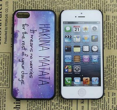 Hakuna Matata Design Hard Back Case Skin Cover For Apple iPhone 5C