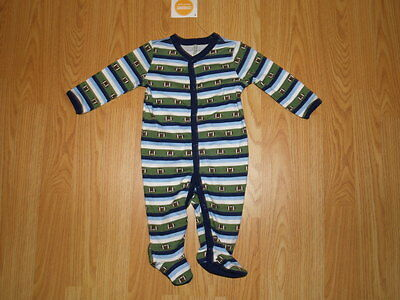 NWT Boys GYMBOREE BRAND NEW BABY FOOTBALL Footed ONE-PIECE Sz 3-6 Mo