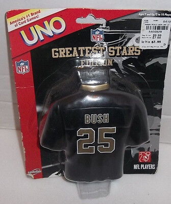 2007 Reggie Bush Football Jersey New Orleans Saints UNO Cards with Case