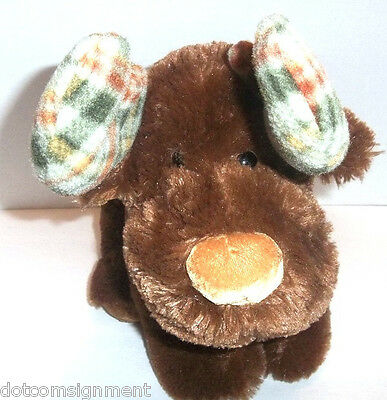 Soft Cuddly Marty the Moose with Fleece Plaid Posable Antlers Russ Plush Stuffed