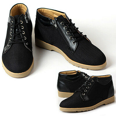New Gentle Mens Sneakers Black Casual Lace Up Ankle Boots Shoes US 10