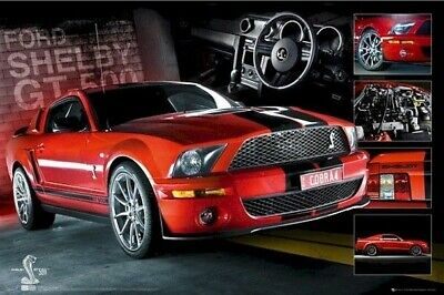 FORD MUSTANG ~ SHELBY GT500 STEERING WHEEL ~ 24x36 POSTER Autos NEW/ROLLED!