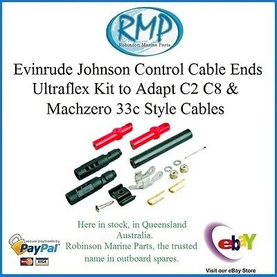A Brand New Set Of Uflex K57 Control Cable Ends For Evinrude Johnson # VP83638