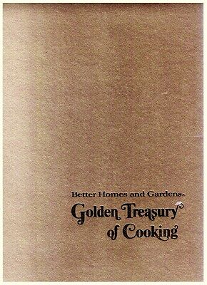 Better Homes and Gardens Golden Treasury of Cooking (1973, Hardcover)
