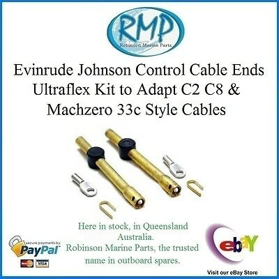 A Brand New Set Of Uflex Control Cable Ends For Evinrude Johnson # VP83640