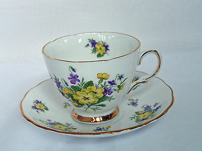 Colclough Tea Cup and Saucer Bone China Made in England Ridgway Potteries LTD