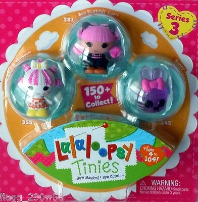 *Lalaloopsy* TINIES SERIES 3 PACK with Squiggles, Boo Scaredy Cat & Bunny
