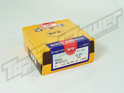 NPR Piston Rings Set 86mm 3S-GTE STD Toyota MR2 SW20 Celica GT4 3SGTE
