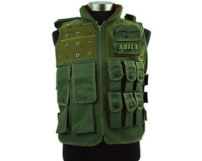 Airsoft Paintball Tactical Military Swat Police Combat Assault Vest Olive Drab