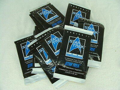 11 Star Trek 25th Anniversary 1991 Sealed Trading Card Packs + 24 Loose Cards