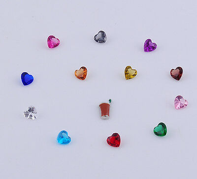 13pcs heart Floating heart  Charm for Glass Living Memory Locket Mix H2197