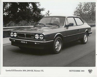 Lancia HP Executive 1600 2000 IE Original Press Photograph 1983