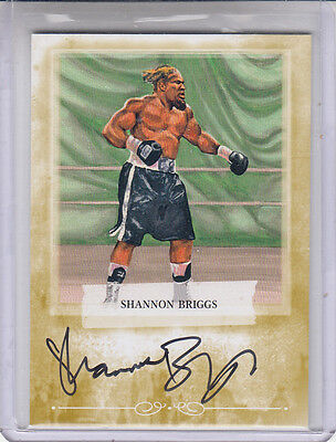 2010 RINGSIDE ROUND 2 SHANNON BRIGGS  GOLD /10 A-TW2 AUTOGRAPH AUTO