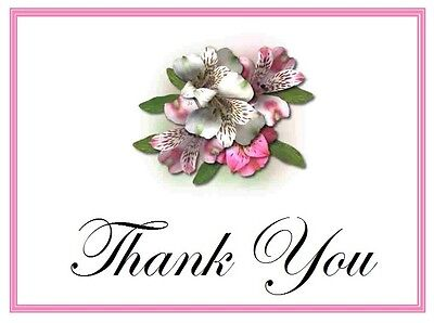 25 Personalized WEDDING  Favors Custom THANK YOU Note CARDS FLOWERS Group #1