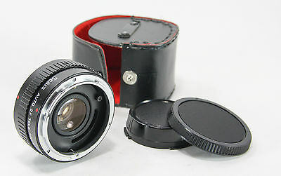 Sears Auto 2X Tele Converter for Canon FD Mount Lenses with Caps and Case