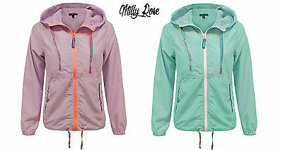 Brave Soul Ladies Running Training Jacket Camping Festival Mac Raincoat Dubarry