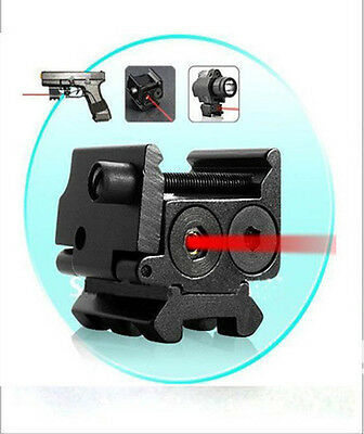 Hunting Compact 650nm Red Dot Laser Sight Dual Weaver Rail / Under Mount 20mm#28