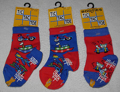 New 3 Pairs Quality Baby Boys Infant Socks Booties 0-6 Months