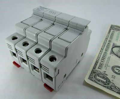 Cooper Bussmann CH084D Industrial Fuse Holders 4-Pole Modular DIN Rail Mount New