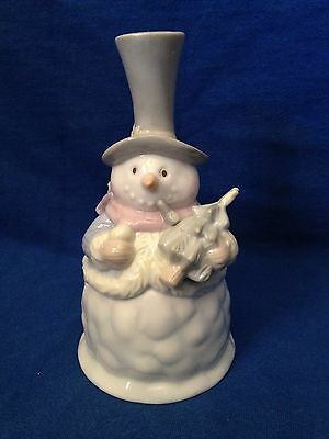 Snowman Porcelain Dinner Bell By Christmas Delights