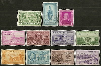 1950 Comm. Year Set #987 - #997 MNH OG (combined shipping)