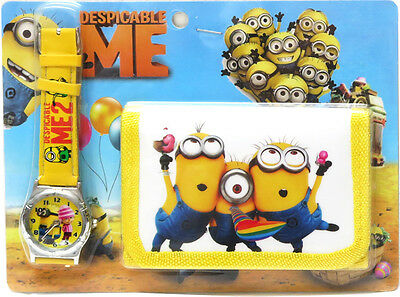 New Watch Wallet Minion Despicable Me Boys Accessories Children Goodies Bag Toys
