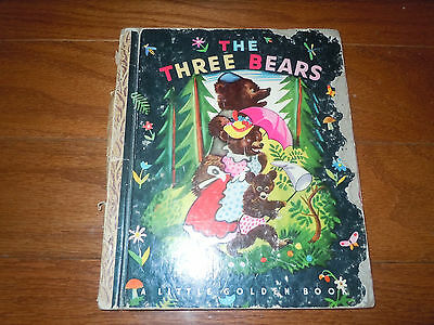 Vintage Little Golden Book ~ THE THREE BEARS ~ Rare 1st edition!  1948