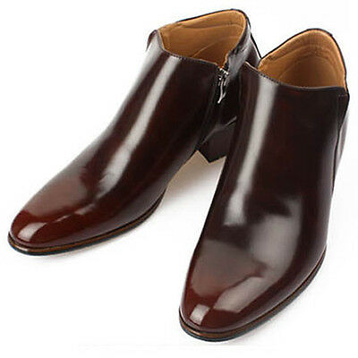 New Mens Dress Leather Shoes Formal Casual Brown Ankle Boots Deluxe US 9