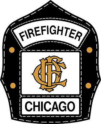 Chicago fire department decal helmet shield 4