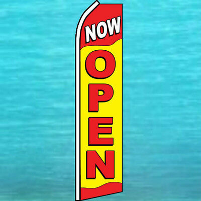24hrs OPEN Feather Flag Tall Vertical Feather Bow Swooper Banner Sign