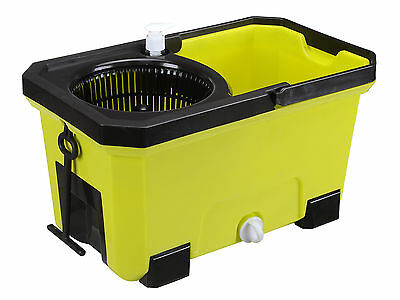 Easy Clean 360 Rotating Magic Spin Mop Micro Fiber Head Bucket - Green