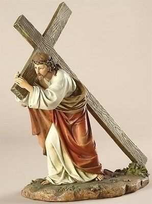 Christ Carrying His Cross 11Tall  Religious Easter Christian Statue Lord Jesus